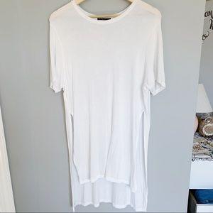 Brandy Melville White Tee Shirt TShirt Tunic Dress